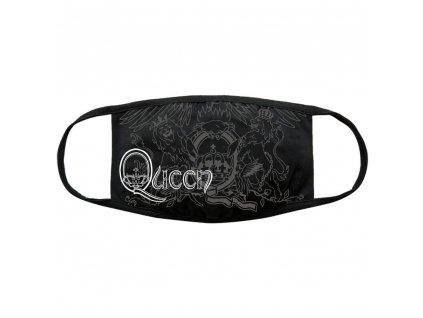 Ochranná rouška na ústa Queen: Logo (universální) černá bavlna