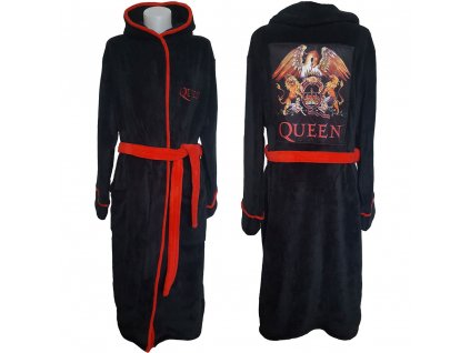 Pánský župan Queen: Classic Crest  černý fleece