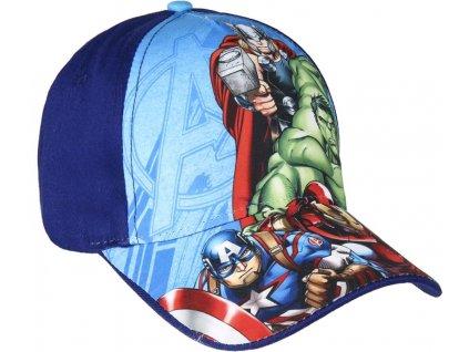 Dětská kšiltovka Marvel: Avengers (obvod 53 cm) modrá