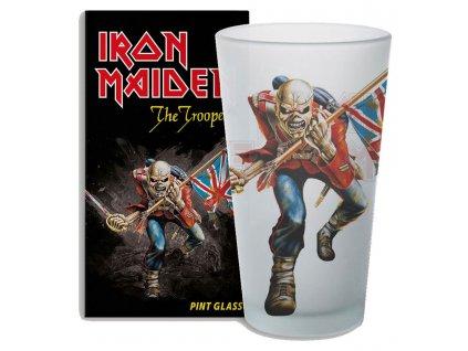 Sklenice Iron Maiden: The Trooper (objem 500 ml)