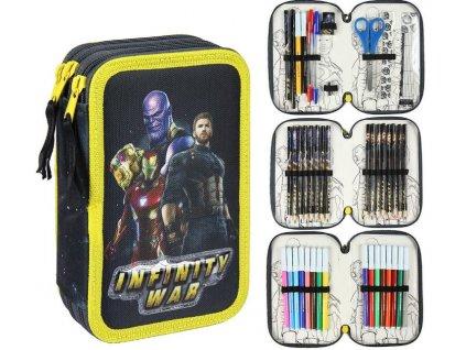 Školní trojdílné pouzdro Avengers: Infinity War penál plněný - 42 položek (13 x 20 x 7 cm)