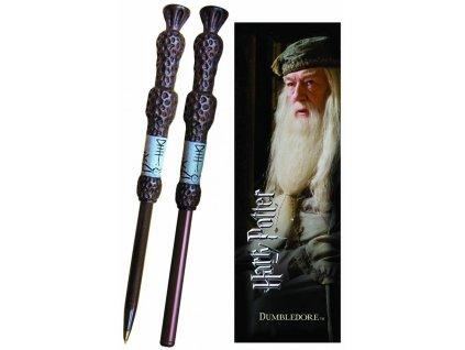 Inkoustová propiska Harry Potter: Dumbledore Wand se záložkou (délka 16 cm)