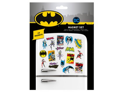 Magnety DC Comics: Batman Retro set 19 kusů (18 x 24 cm)