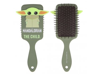 Kartáč - hřeben na vlasy Star Wars Hvězdné války: Mandalorian (22 x 17 x 4 cm) plast