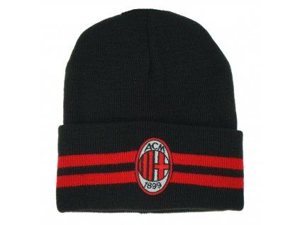 Zimní čepice AC Milán cutt stripes