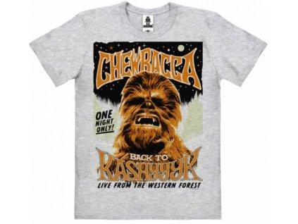 Pánské tričko Star Wars Hvězdné Války: Chewbacca Back To Kashyyyk (2XL) šedé bavlna