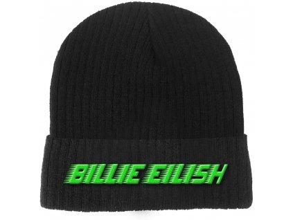 Zimní čepice Billie Eilish: Racer Logo (universální) černý polyakryl