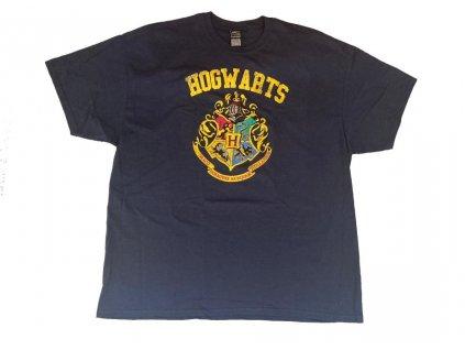 Pánské tričko Harry Potter: Crest Varsity (2XL) modrá bavlna
