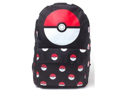 Batoh Pokémon: Pokéball (objem 19 litrů 31 x 41 x 15 cm) černá polyester