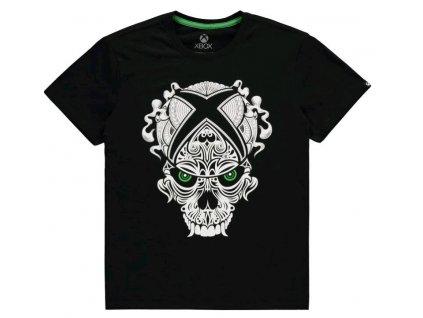 Pánské tričko XBOX: Skull  černá bavlna
