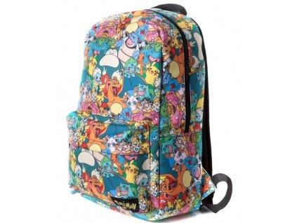 Batoh Pokémon: All Over Printed (objem 21 litrů, 46 x 30 x 15 cm) multicolor polyester