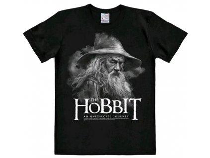 Pánské tričko Hobbit: Gandalf  černé bavlna