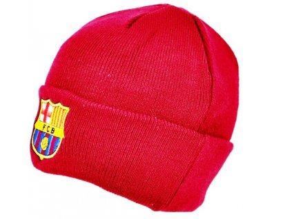 Zimní pletená čepice FC Barcelona: Přeložená (universální) vínová