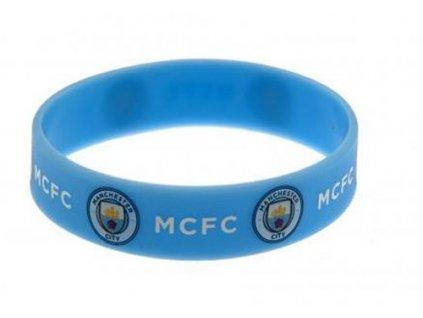 Silikonový náramek FC Manchester City (průměr 7 cm) modrý