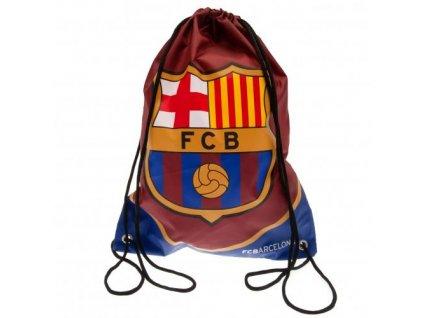 Batoh pytlík se šňůrkami gym bag FC Barcelona: Znak (33 x 44 cm|objem 14,5 l) vínový polyester