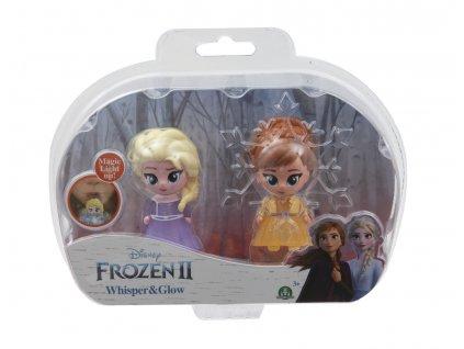 Frozen 2: 2-pack svítící mini panenka - Elsa Opening & Ana Opening