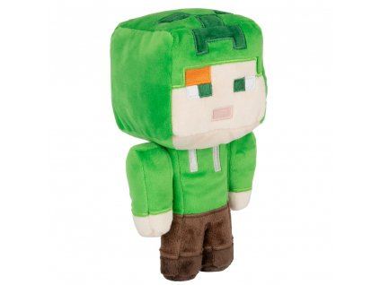 Plyšová hračka Minecraft: Alex v Creeperově kostýmu (výška 12 cm)