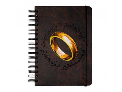 Poznámkový blok The Lord of the Rings Pán prstenů: Prsten (A5 14,8 x 21,0 cm) nelinkovaný