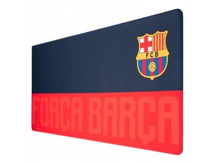 Herní podložka na stůl FC Barcelona: Znak - Forca Barca (80 x 35 cm)