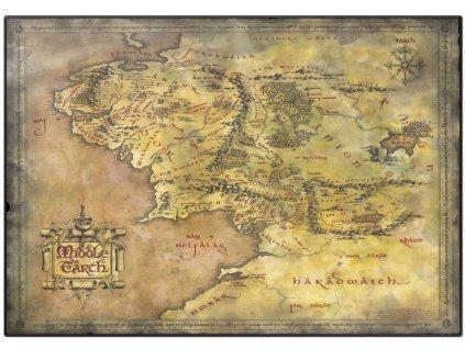 Podložka na stůl The Lord of the rings|Pán prstenů: Mapa Středozemě (49,5 cm x 34,5 cm)
