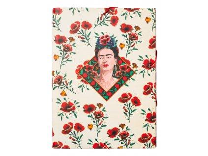 Složka s 3 klopami Frida Kahlo: Flores (26 x 34 x 2 cm)