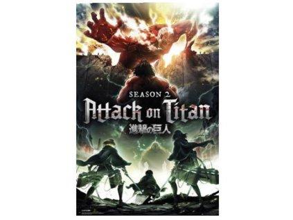 Plakát Attack on Titan Season 2: Key Art (61 x 91,5 cm) 150 gsm