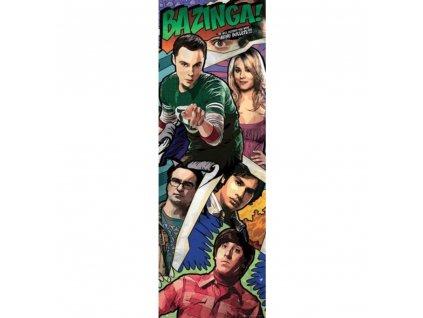 Plakát na dveře The Big Bang Theory Teorie velkého třesku: Comic (53 x 158 cm)