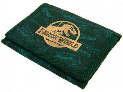 Peněženka Jurský Svět: Znak (13 x 10 cm) zelený nylon