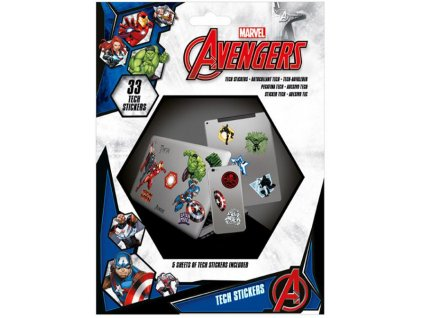 Samolepky na elektroniku Marvel|Avengers: Heroes (5 listů|33 kusů, 18 x 24 cm)