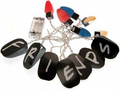 Dekorativní 2D světýlka k zavěšení - řetězová lampa Friends|Přátelé: Řetěz 13 kusů (250 cm)