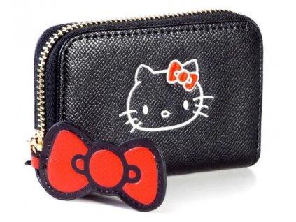 Peneženka na mince Hello Kitty: Mini (11 x 7 cm) černý polyester