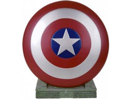 Pokladnička Marvel: Captain America Shield (výška 25 cm)
