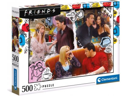 Puzzle Friends: On The Phone 500 dílků (49 x 36 cm)