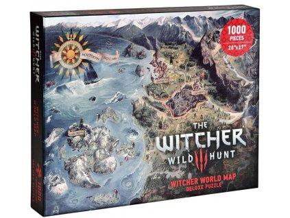 Puzzle Witcher 3|Zaklínač: Northern Kingdoms 1000 kusů (51 x 69 cm)