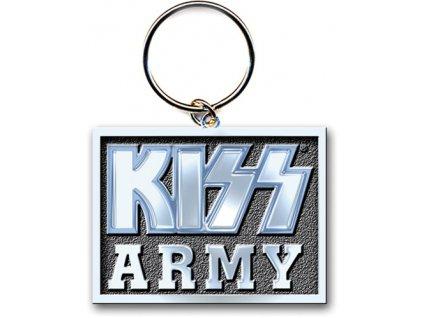 Přívěšek na klíče Kiss: Army Block (3,8 x 4,5 cm)