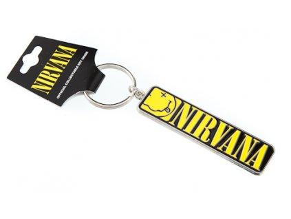 Přívěšek na klíče Nirvana: Logo (7 x 2 cm)