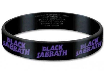 Silikonový náramek Black Sabbath: Logo (šířka 1,5 cm) černý