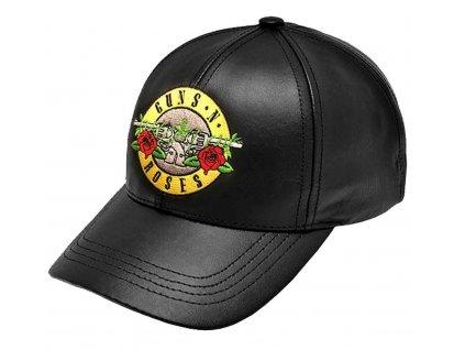 Kšiltovka Guns N' Roses: GNFRS (nastavitelná) černá koženka