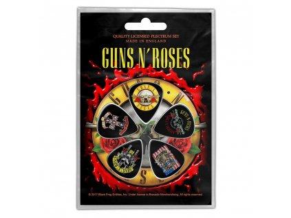 Kytarová trsátka Guns N' Roses: Bullet Logo set 5 kusů (15 x 11 cm)