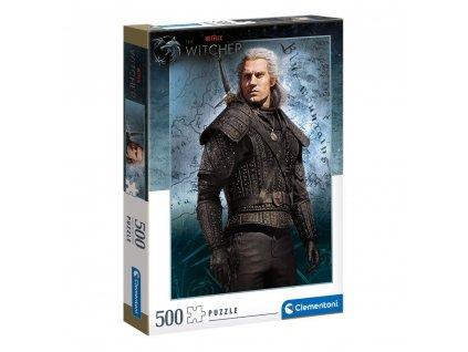 Puzzle The Witcher|Zaklínač: Geralt Of Rivia 500 dílků (36 x 49 cm)