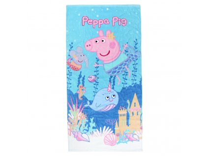 Dětský ručník - osuška Peppa Pig: Blue (140 x 70 cm) bavlna polyester
