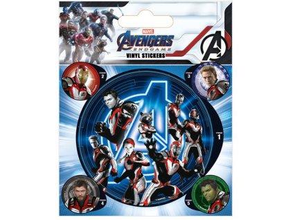Samolepky Marvel Avengers Endgame: Quantum Realm Suits arch 5 kusů (10 x 12,5 cm)