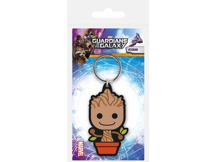 Pryžový přívěsek na klíče Guardians Of The Galaxy Vol.2|Strážci galaxie: Baby Groot (5 x 6 cm)