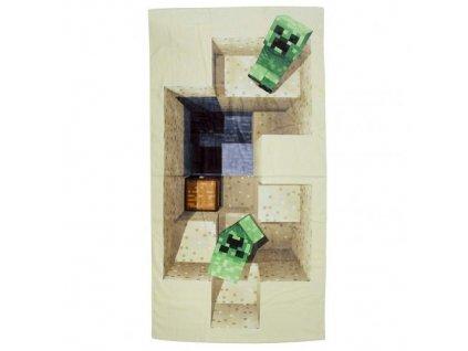 Osuška - ručník Minecraft: Creepers (70 x 140 cm)
