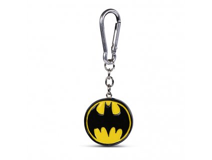 Přívěsek na klíče Batman: Logo (4 x 4 cm)