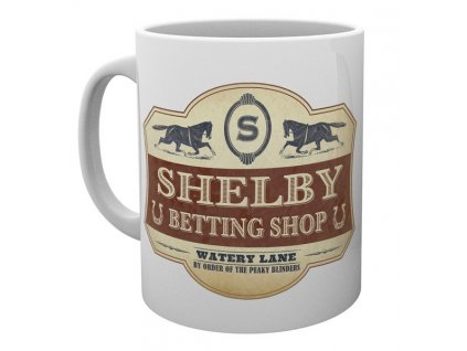 Keramický hrnek Peaky Blinders|Gangy z Birminghamu: Betting Shop (objem 300 ml) bílý