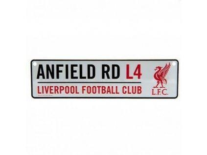 Cedule na zeď FC Liverpool: Anfield (26 x 7 cm)