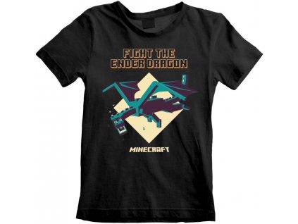 Dětské tričko Minecraft: Ender Dragon  černá bavlna