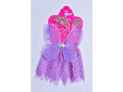 Šaty pro princeznu - fialové