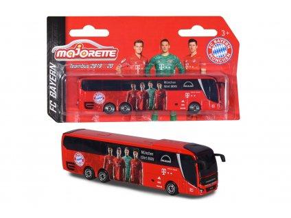 Kovový autobus Majorette MAN FC Bayern 13 cm